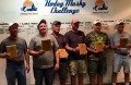 Winners of the 2015 Hodag Musky Challenge, which took place September 26-27 are, from left, Mark Lijewski and Jeff Piazza (1st Place), Kent Stadler and Doug Bloch (2nd Place) and Buck Rogers and Bob Becker (3rd Place).