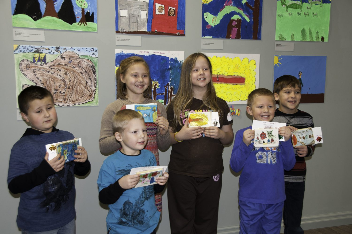 These are the proud winners of the ArtStart FishPrize Competition. Students' work was displayed in the ArtStart Galleries and celebrated with an artists' reception.