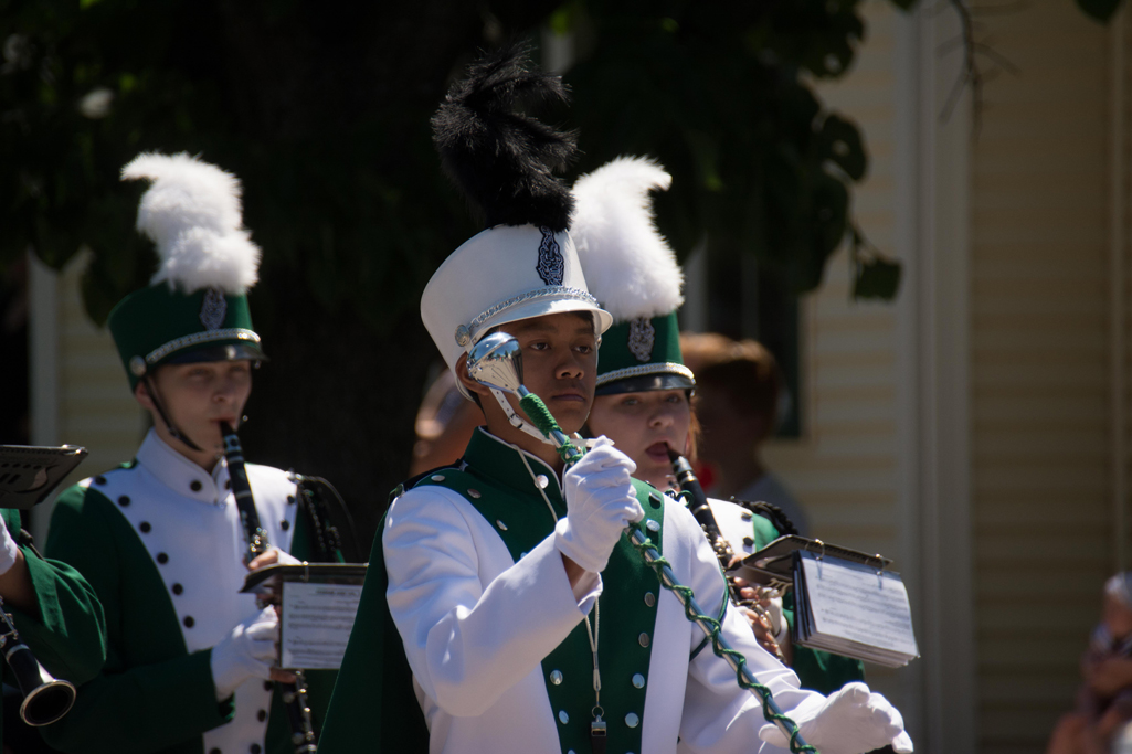 One of the drum majors for the Marching Hodags
