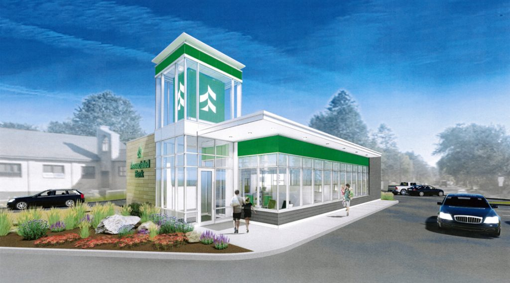 Assoicated Bank has proposed a new single-story, 2,700-square-foot branch bank at 304 Lincoln St. in Rhinelander as depicted in this illustration presented last month to the city Planning Commission.
