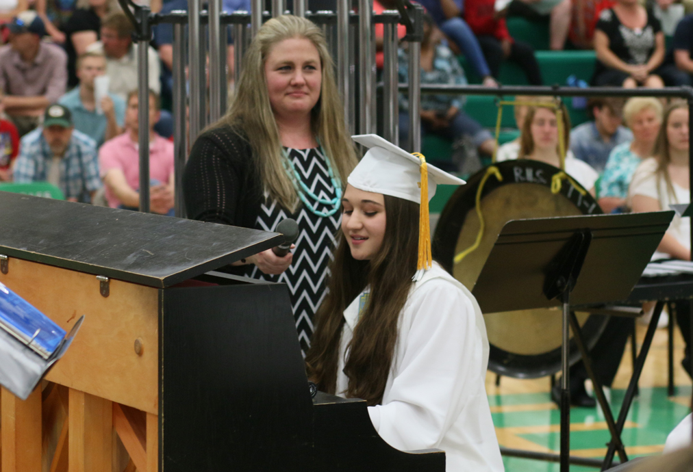 Faith Bartelt performed a song she composed for graduation instead of the traditional speech.