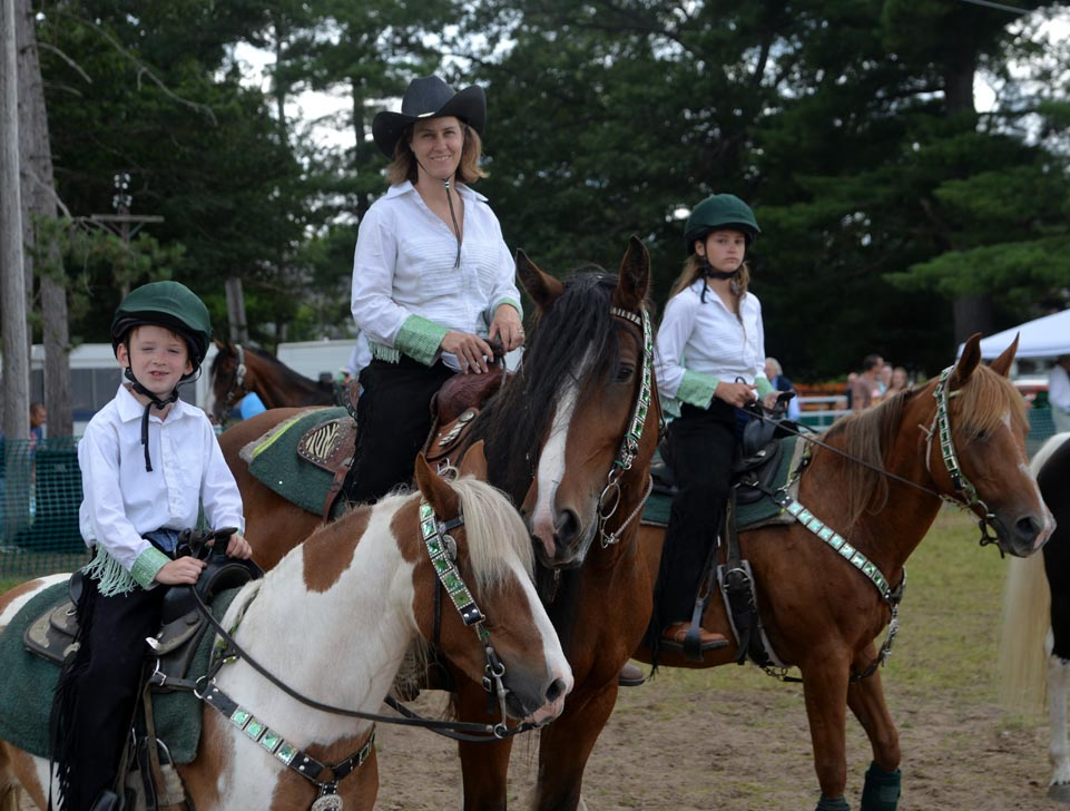 The Northwoods Equestrian Drill Team performed in the Action Arena at the fair.
