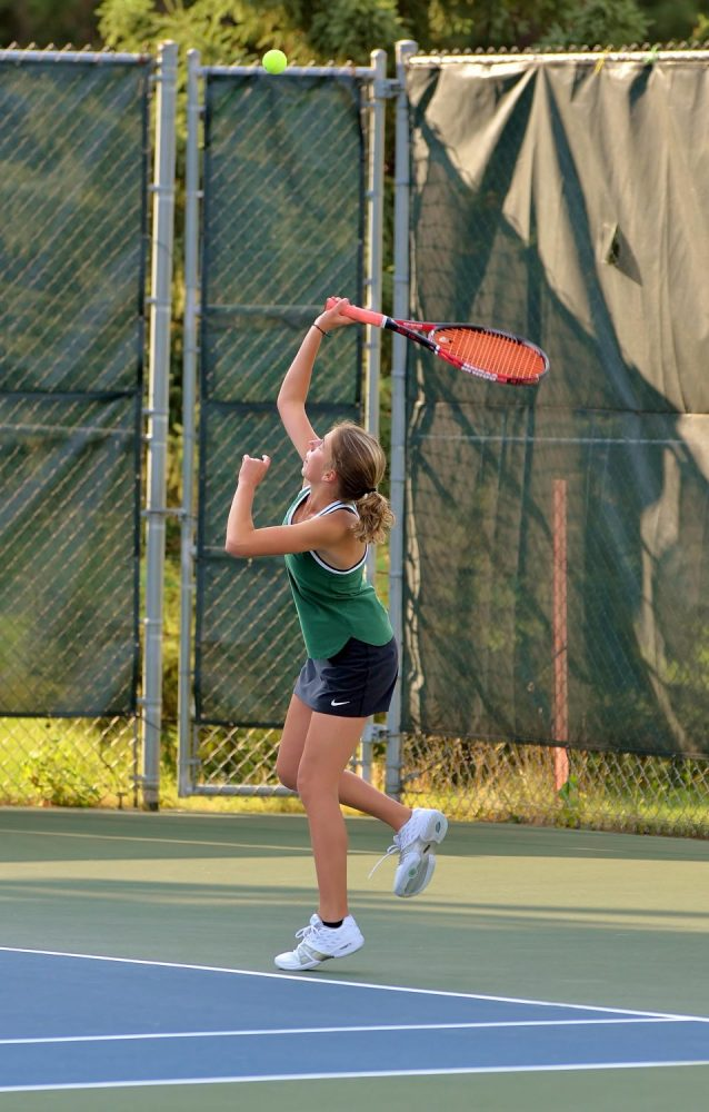 The Hodags' Alexis Pyrchalla hits the ball.