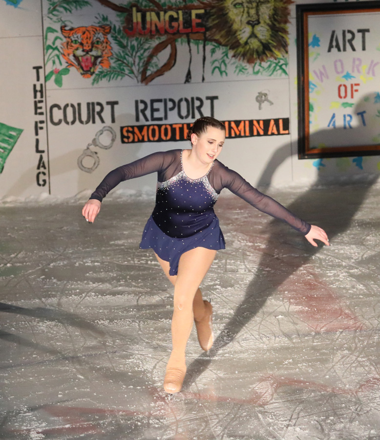 "Caitlin Harris skates to the song, ""It's my Life."""