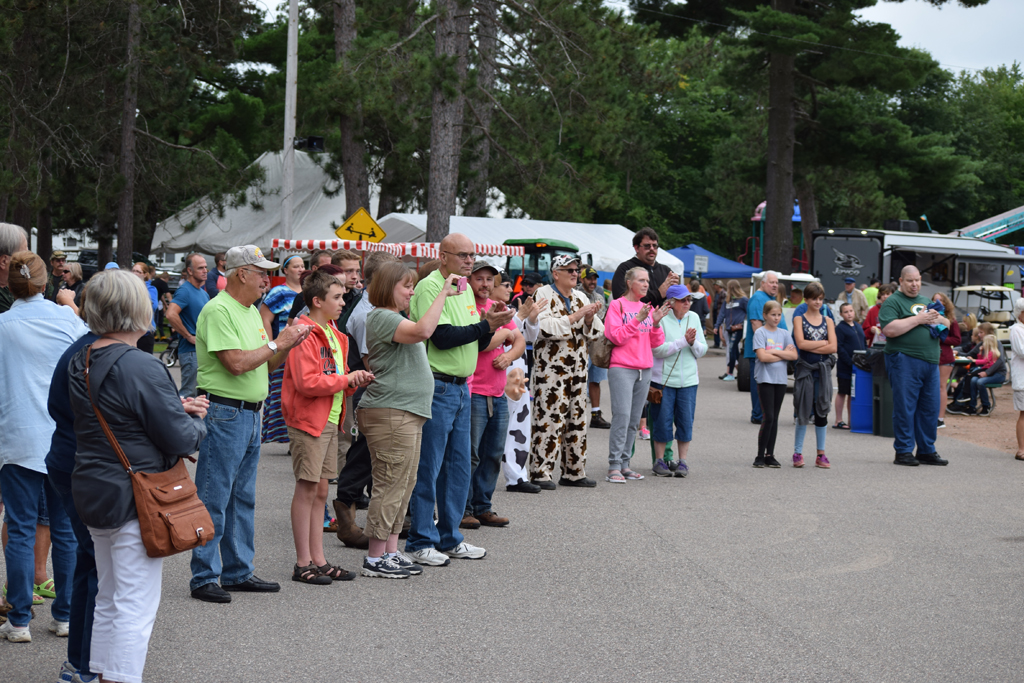 A crowd gathered Thursday afternoon for the Oneida County Fair's opening ceremony.